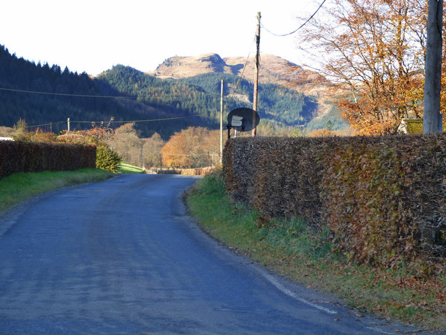 Minor road in Glen Finart