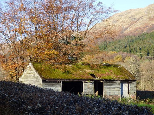 Old shed in Glen Finart