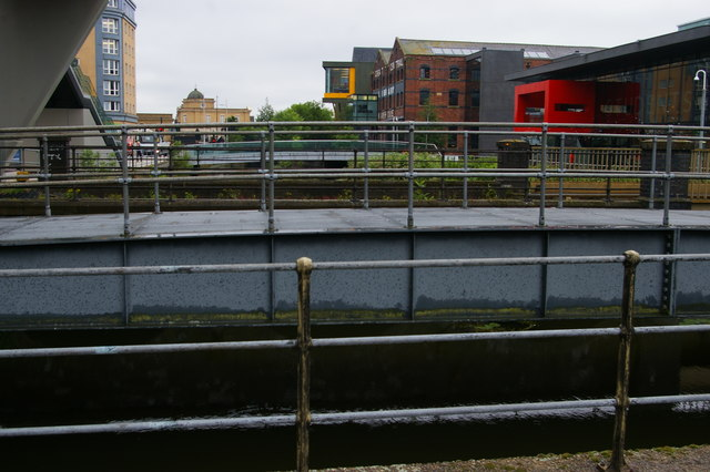 Lincoln: looking up the River Witham from Brayford Pool