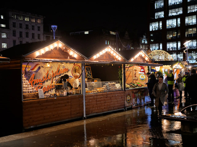 Christmas Market Stalls at Piccadilly