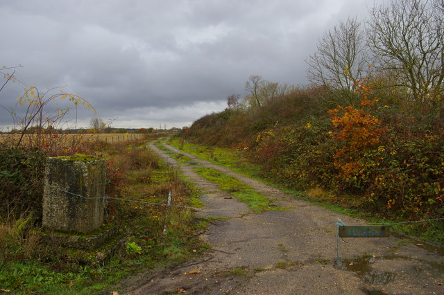 Remains of Theberton airfield, off Harrow Lane