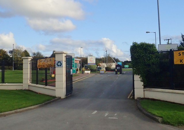 Entrance Gate to V & W Recycling on Newry Road, Dundalk
