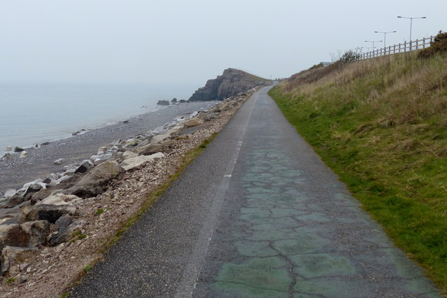 Wales Coast Path towards Penmaen Head