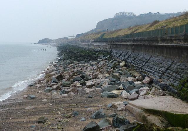 Sea defences at Colwyn Bay