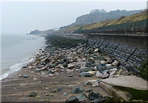 SH8778 : Sea defences at Colwyn Bay by Mat Fascione