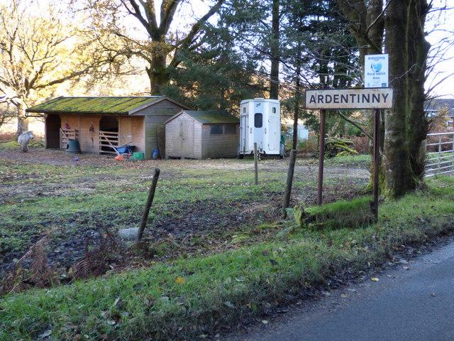 Ardentinny Village sign