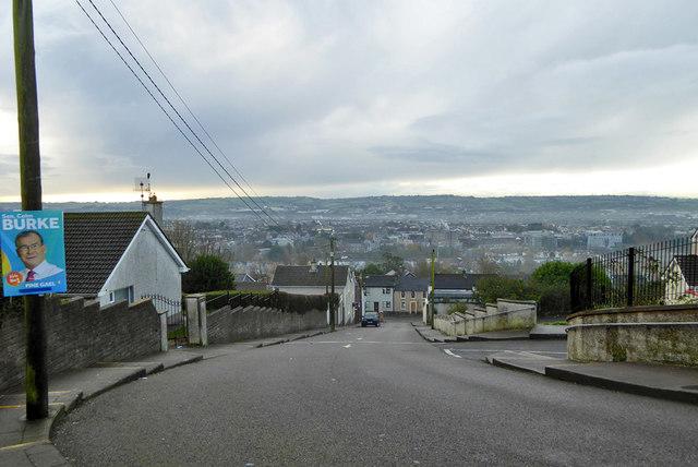 View south down Baker's Road, Cork