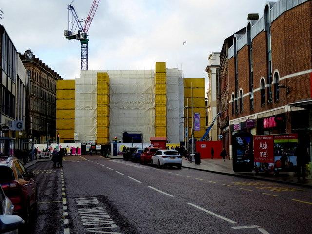 Bank Buildings under wrap, Belfast
