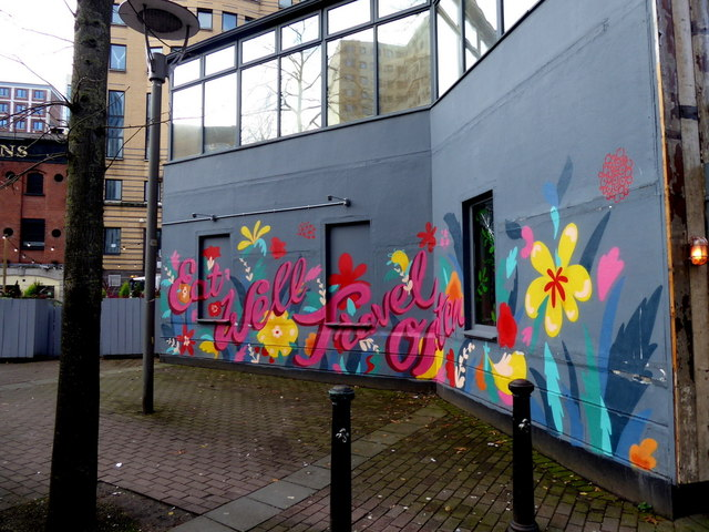 Colourful hoarding, Belfast