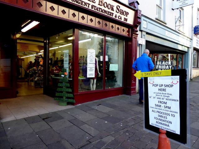 Pop up shop, High Street, Omagh