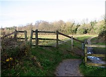 TG2105 : Gate on the main path on Marston Marsh by Evelyn Simak