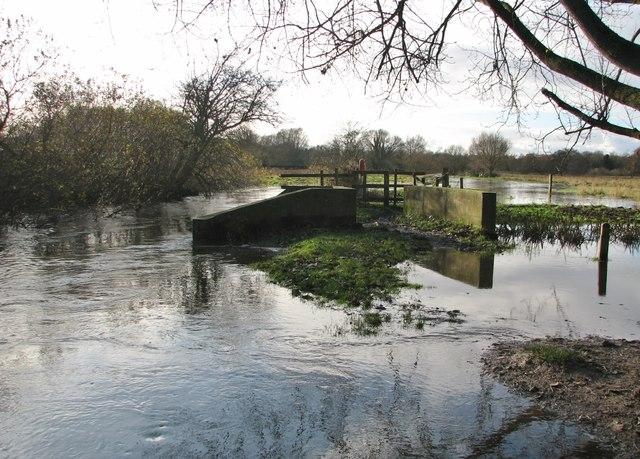 Flooded path on Marston Marsh