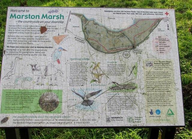 Marston Marsh information board