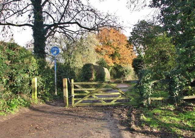 Gate on Marston Lane