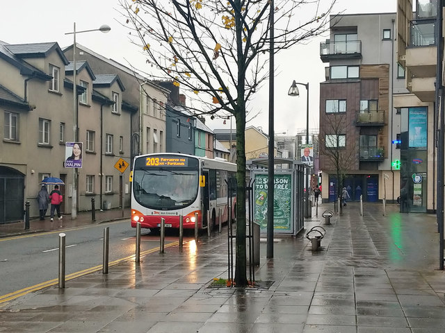 203 bus at stop on Watercourse Road, Cork