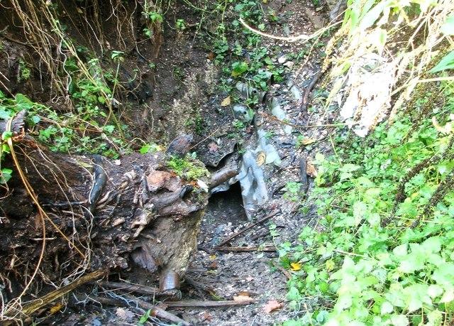 Harford Hills chalk mines - destroyed access