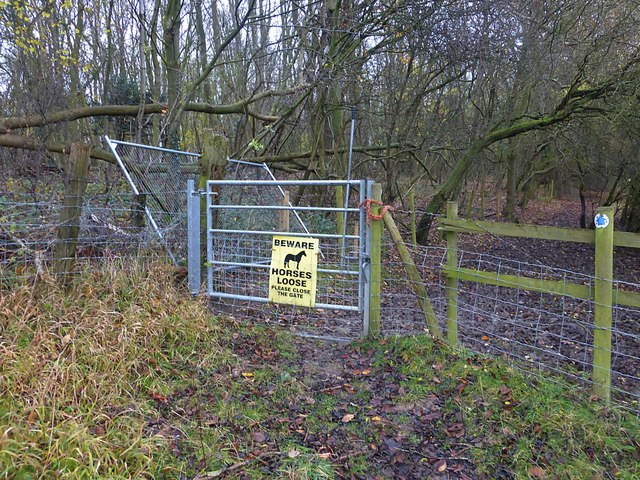 Bridleway gate to Long Spinney