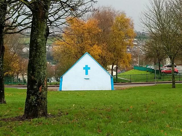 Back of shrine by St. Enda's Road, Cork