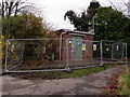 ST3090 : Fenced-off electricity substation, Malpas, Newport by Jaggery