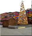 ST3187 : Artificial Christmas tree in John Frost Square, Newport by Jaggery