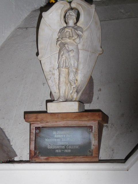 St Peter's Church: memorial in the south transept