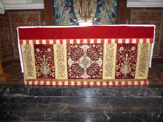 St Peter's Church: altar frontpiece