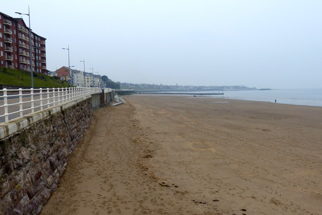 The beach at Llandrillo-yn-Rhôs