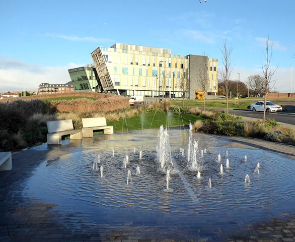 Water feature at Harton Quay
