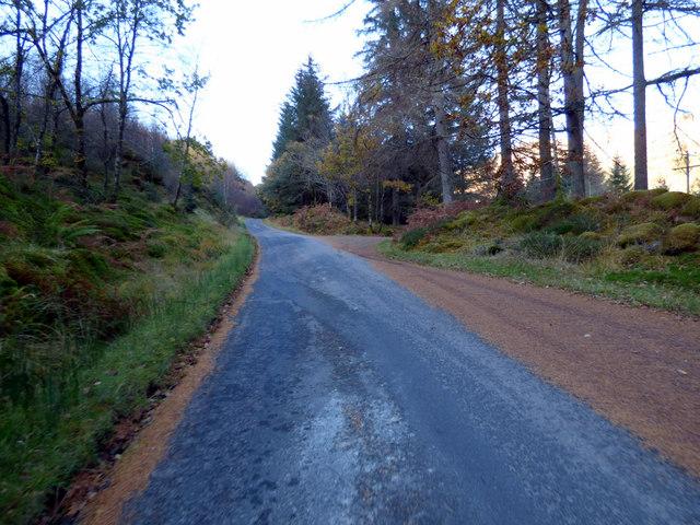 Minor road in Glen Finart