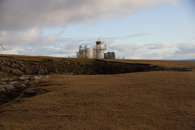 The lighthouse at South Ness, Foula
