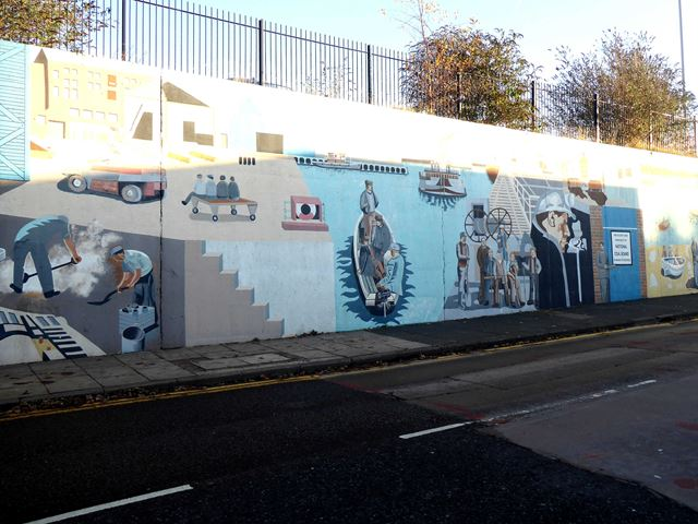Murals on Commercial Road