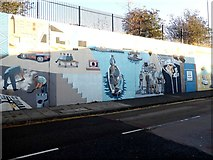 NZ3666 : Murals on Commercial Road by Oliver Dixon