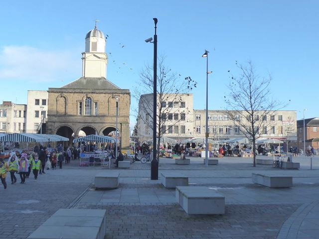 Market Place and Old Town Hall