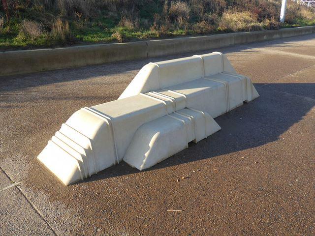 Sculptural bench on the Littlehaven Promenade