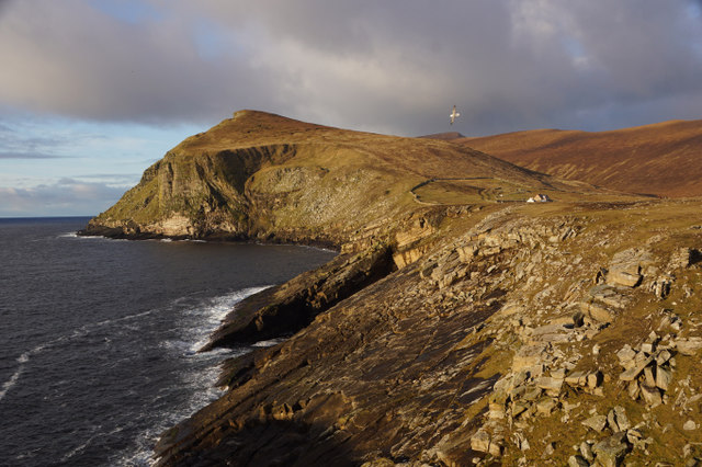 View to the Noup from South Ness, Foula