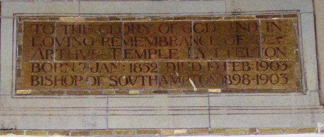 St Peter's Church: memorial to a suffragan bishop