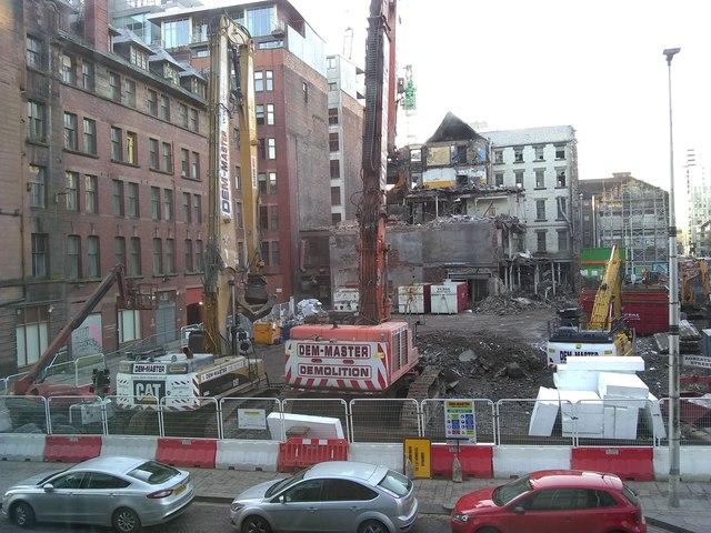 Demolition site on Argyle Street