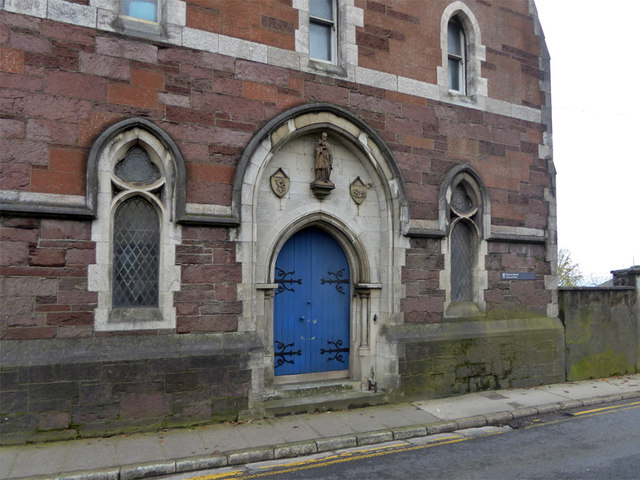 Doorway, former missionary house, Sunday's Well Road, Cork