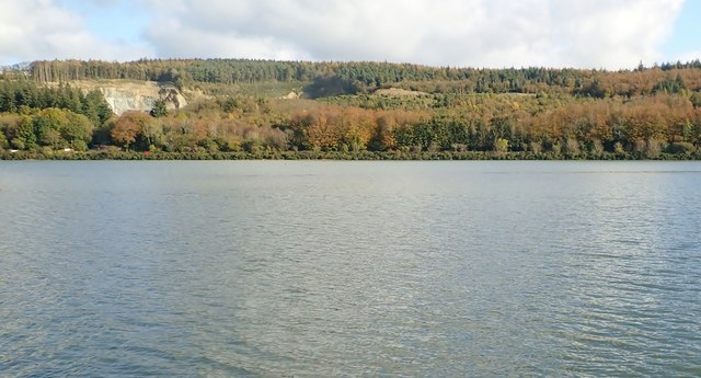 Narrow Water Quarry viewed across the Newry River