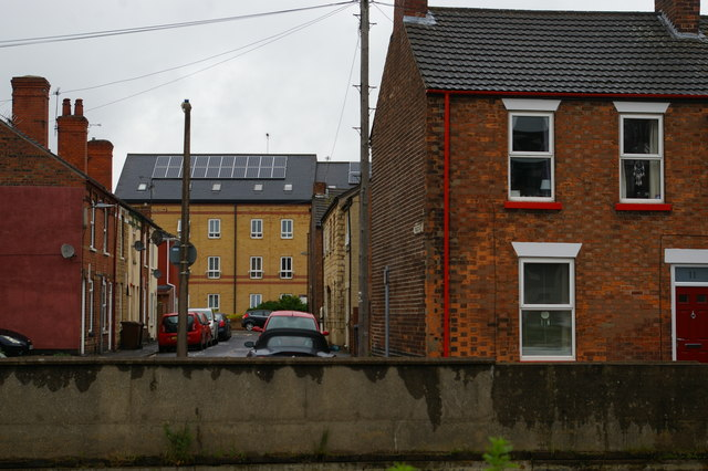 Houses overlooking the Fossdyke, Lincoln