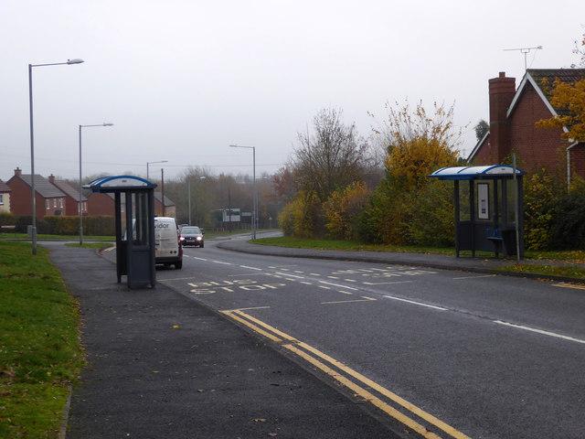 Dugdale Drive in the Harleys, Warndon Villages