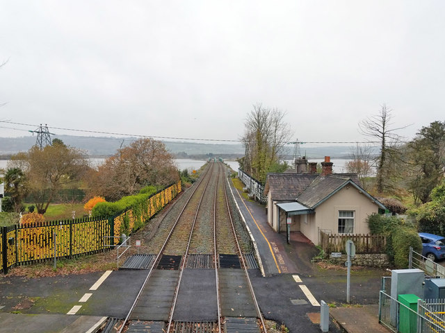 Railway towards Cork at Fota