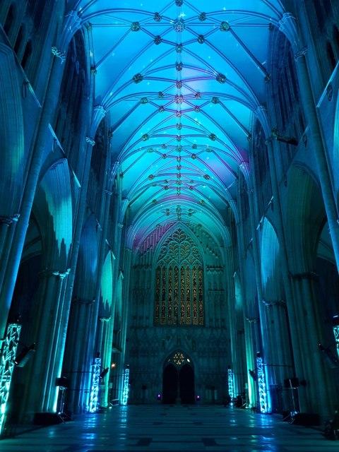 Illuminated Minster - Empty nave