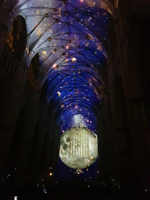 Illuminated Minster - Moon Rising