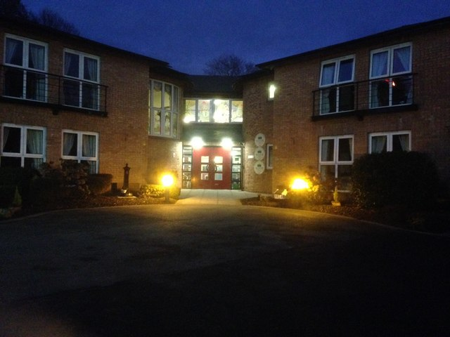 McCauley House Nursing Home Omagh after dark