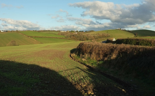 Arable field beside Horwood Cross