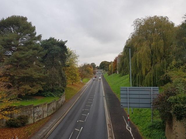 University Road from Chemistry Bridge