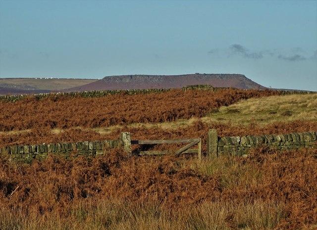 On Stoke Flat looking towards Higger Tor