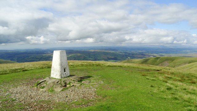 Trig point on The Calf, Howgill Fells by Colin Park