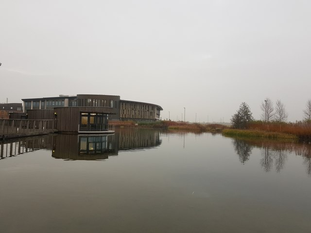 Lake and Piazza Building